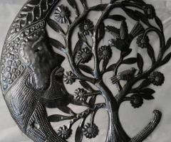 Haitian oil drum art pieces