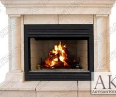 Cast Stone Fireplace Surrounds | Custom Cast Stone Mantels - Artisan Kraft