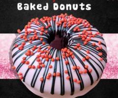 Red Velvet sprinklers Baked Donut - No Fry, Whole Wheat, Eggless (1pc)